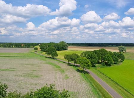 dutch landscape with clouds Imagens - 36621702