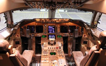 simulator: big jet cockpit