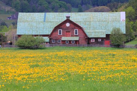 typical new england farm