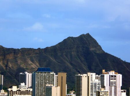diamond head: diamond head crater oahu Stock Photo