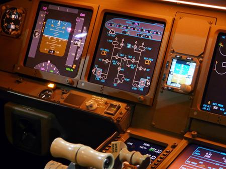 details jet aircraft cockpit