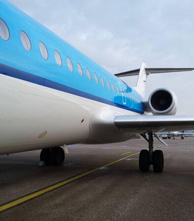 boarding blue jet plane Editorial