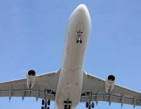 big plane coming in for landing