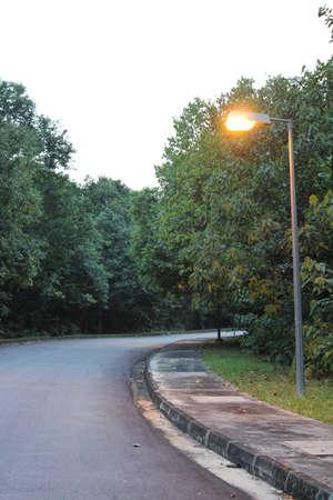 lamp post: Percorso Lampione illuminato