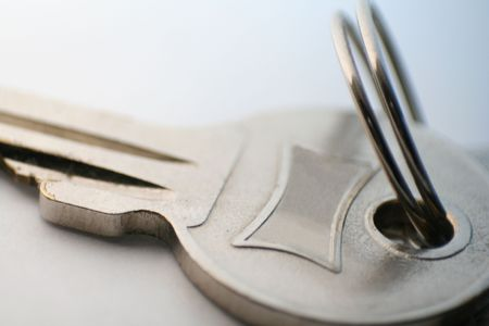 macro shot of a key