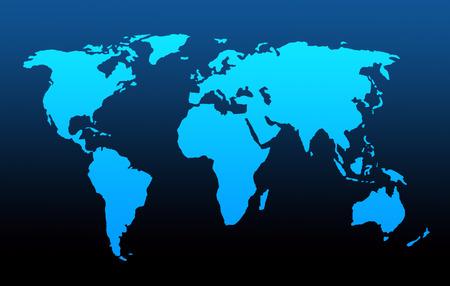 illustrated image of world map