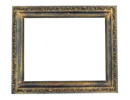 classic frame: wooden frame over white surface