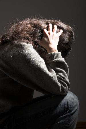 conceptual shot representin teh emotions sadness and depression