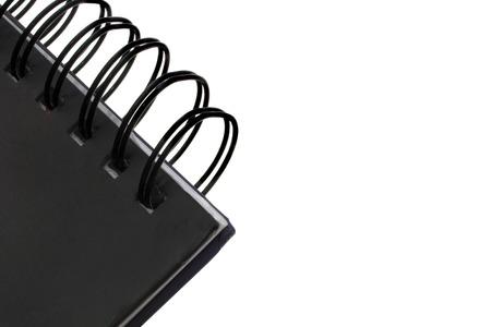 note book: uno nota libro nero su bianco catturato