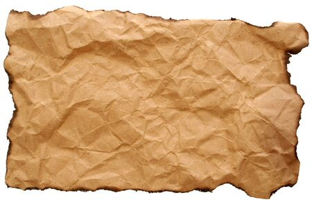 image of a blank crumpled paper that can be used  as a backround Stock Photo