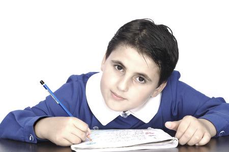 hardorking boy doing his homework Stock Photo - 1498563