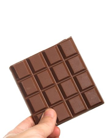 chock: chocolate block held in hand