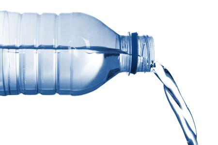 isolated image of  bottled water flowing Stock Photo - 2235560