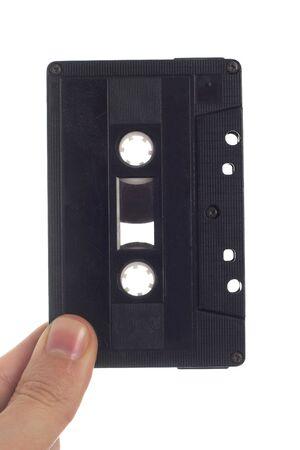 studio isolated image of audio tape held in hand Stock Photo - 2235601