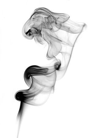 abstract shape of incense smoke looks a bit like a lion Stock Photo