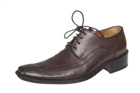 brown shoe on white photo