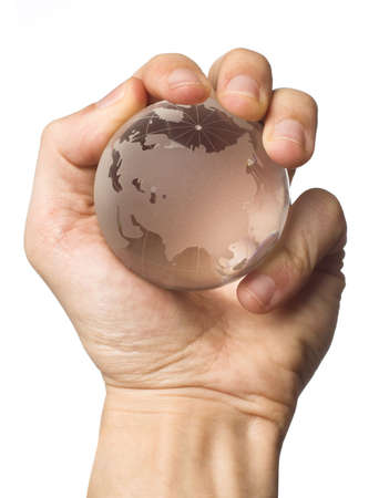 holding the world in hand photo