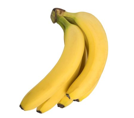 Bananas isolated on white clipping path included Stock Photo