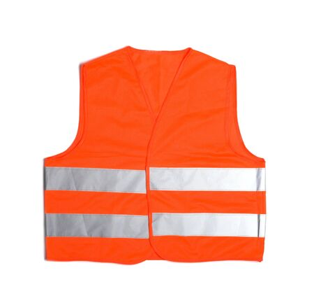 high visibility vest isolated on white