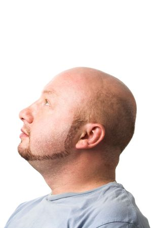 male profile: isolated portrait of a man