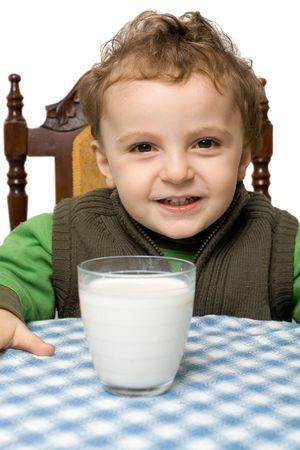 baby boy drinking milk photo