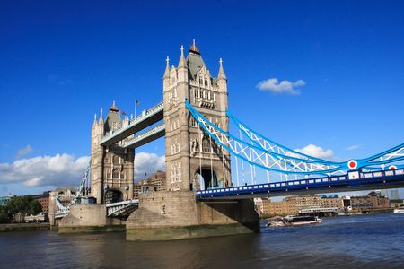 historical landmark: iconic tower bridge of london united kingdom Stock Photo