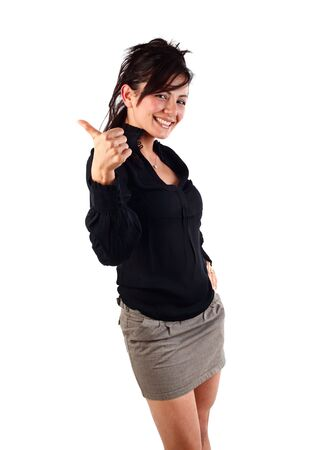 Young businesswoman with her thumb up Stock Photo - 5643646