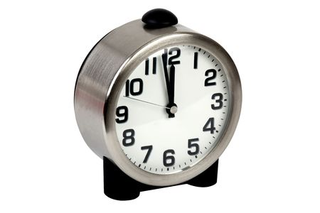 table clock isolated on white clipping path inlcuded Stock Photo - 5988120