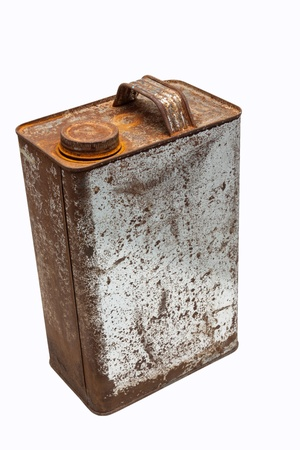 kerosene: old gallons of oil Stock Photo