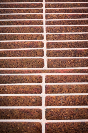 Rust steel grating of Drain cover  photo