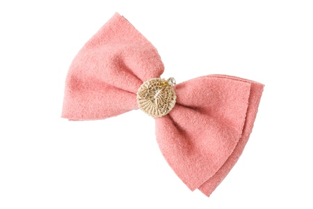 Hair pink clip for women on isolated white