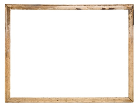 antique frame: Old wood frame isolated on the white