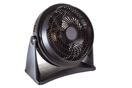 Black motor fan isolated on white  photo