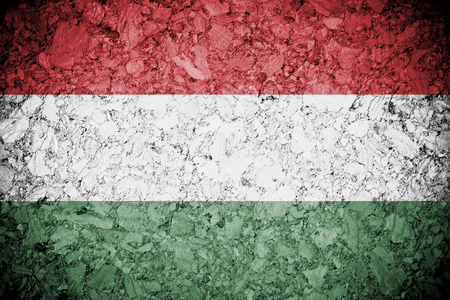 grung: Grung of Hungary or Hungarian banner on wooden background  Stock Photo