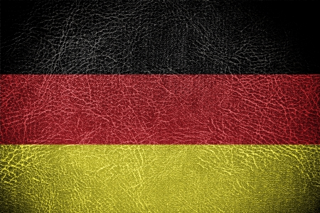 economic revival: Flag of German banner on leather background  Stock Photo