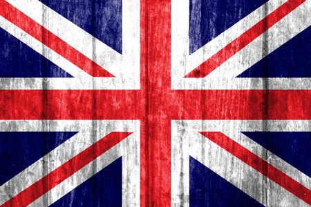 United Kingdom Flag on wood background  photo