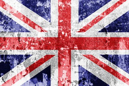 Grunge Union Jack Flag  Reklamní fotografie