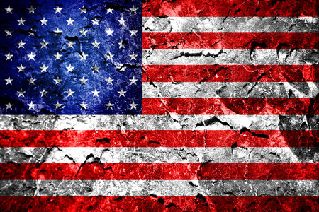 Grunge USA flag  photo