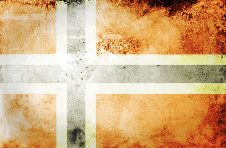 Vintage Norway flag grunge background  photo