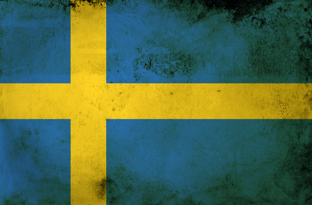 Grunge flag of European country Sweden  photo