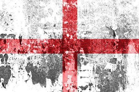 rusty background: England flag on rusty background