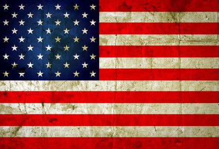 Grunge USA flag background  Archivio Fotografico