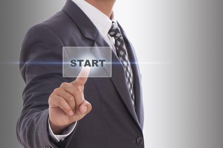 start button: start