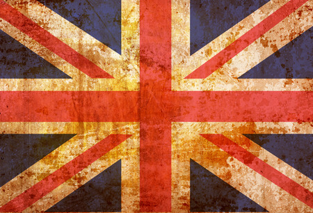 Vintage United kingdom flag grunge background  photo