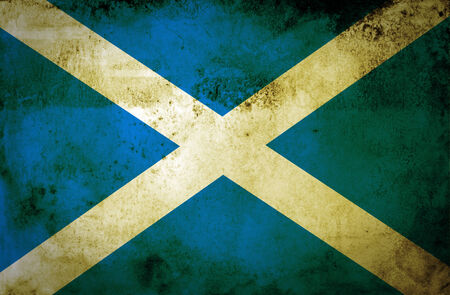 Grunge Scotland flag  photo