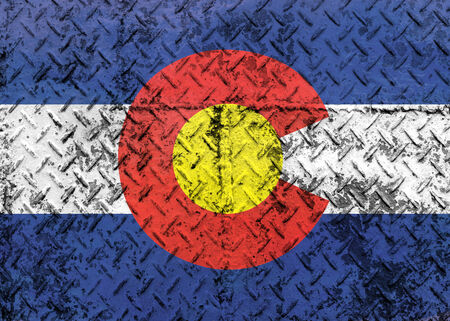 grunge of Colorado flag