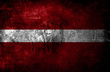 Latvia grungy flag  photo