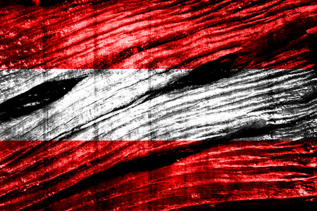 austria flag: Austria flag on old wood texture