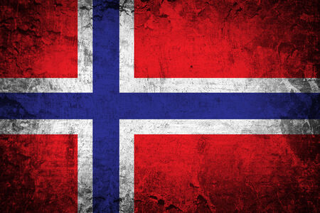 Grungy Norway Flag  photo