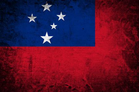 samoa: Grunge Samoa Flag  Stock Photo